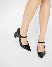 Office Mandy Mary Jane Point Mid Heeled Shoes
