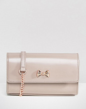 Ted Baker Leather Simple Cross Body Bag in Pale Purple