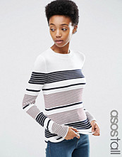 Asos Tall Jumper With Crew Neck In Stripe in Soft Yarn