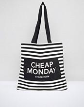 Cheap Monday Striped Logo Shopper Bag
