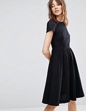 YMC Perforated Sleeve Skater Dress