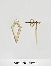 ASOS Gold Plated Sterling Silver Diamond Shape Swing Earrings