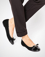 Head Over Heels By Dune Hadisia Black Patent Flat Shoes