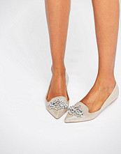 Head Over Heels by Dune Lou Lou Embellished Pointed Flat Shoes