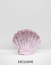 Skinnydip Mermaid Shell in Pink Glitter