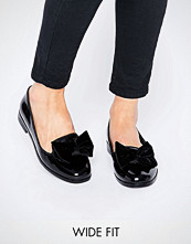 ASOS MONICA Wide Fit Bow Slippers