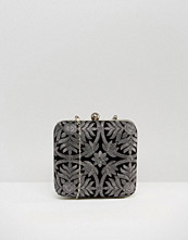 Park Lane Embroidered Box Clutch Bag