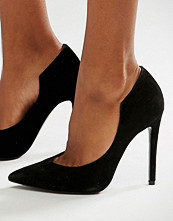 Kendall + Kylie Black Suede Court Shoes