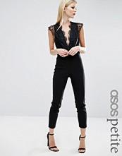 ASOS Petite Sexy Lace Plunge Jumpsuit
