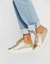 Daisy Street Gold Trainers