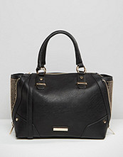 Dune Studded Tote Bag With Zipable Gusset