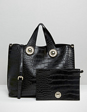 Versace Jeans Croc Tote Bag with Pouch