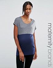 Mama.licious Mamalicious Maternity Colourblock T-Shirt