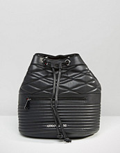 Armani Jeans Quilted Drawstring Backpack