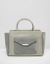 Pieces Winged Tote Bag With Envelope Detail Front Pocket