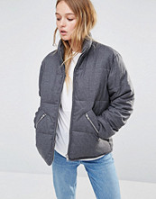Weekday Padded Jacket with Exposed Zips
