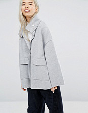Weekday Bonded Jacket with Funnel Neck