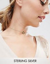 ASOS Gold Plated Sterling Silver Filigree Disc Choker Necklace