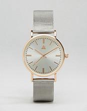 ASOS Silver & Rose Gold Clean Mesh Strap Watch