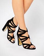 Head Over Heels By Dune Micha Gold Detail Heeled Sandals