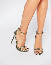 Missguided Camo Heeled Sandal