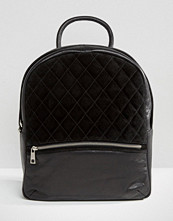Urbancode Backpack With Quilted Suede Panel