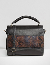 Urbancode Leather Grab Bag With Optional Shoulder Strap