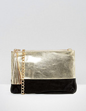 Urbancode Metallic Leather Clutch Bag With Optional Cross Body Strap