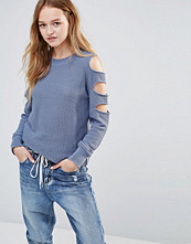 Daisy Street Jumper With Cold Shoulder Ladder Detail