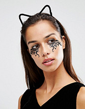 Johnny Loves Rosie Halloween Katy Black Fine Fur Cat Ear Headband