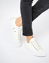Converse All Star Cream Textured Leather Trainers