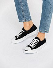 Converse Jack Purcell Black Canvas Trainers