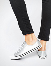 Converse Chuck Taylor All Star Dainty Silver Metallic Trainers
