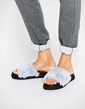 ASOS FLUFFIE Faux Fur Sliders