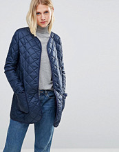 Cooper & Stollbrand Quilted Bomber Jacket In Navy