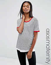 ASOS Maternity Nursing Top in Stripe with Tipping
