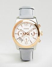 Fossil Perfect Boyfriend Grey Leather Watch ES4081