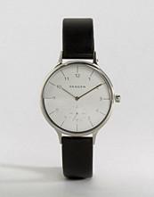 Skagen Anita Black Leather Watch SKW2415