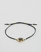Ted Baker Big Button Enamel Cord Bracelet