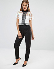 Boohoo Crochet Lace Collar Jumpsuit