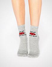 ASOS Halloween Love At First Bite Glitter Ankle Socks