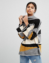 Vila Colour Block High Neck Jumper