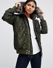 Alpha Industries Arctic Bomber Jacket with Faux Fur Collar