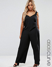 ASOS Curve Dungaree with Wide Leg and Tabs