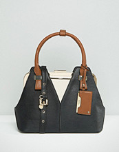 Dune Tote Bag With Contrast Handle