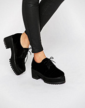 ASOS OBACA Chunky Velvet Lace Up Shoes