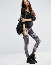 ASOS Camo Printed Leggings with Side Stripe