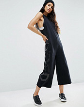 ASOS Sweat Jumpsuit with Logo Print
