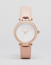 Michael Kors Pink Leather Mini Parker Watch MK2590