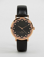 Kate Spade Black Leather Metro Watch 1YRU0583